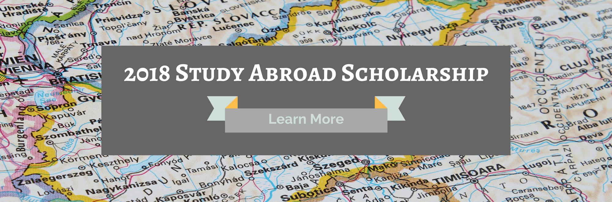 2018 Study Abroad Scholarship