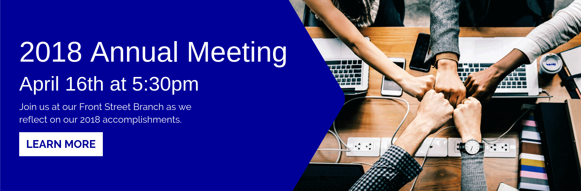 Sign up for our 2018 Annual Meeting on April 16th at 5:30 pm