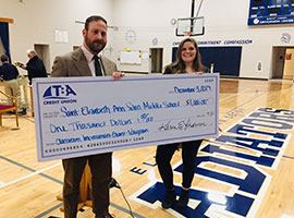 Check presentation for $1000 to SEAS teacher.