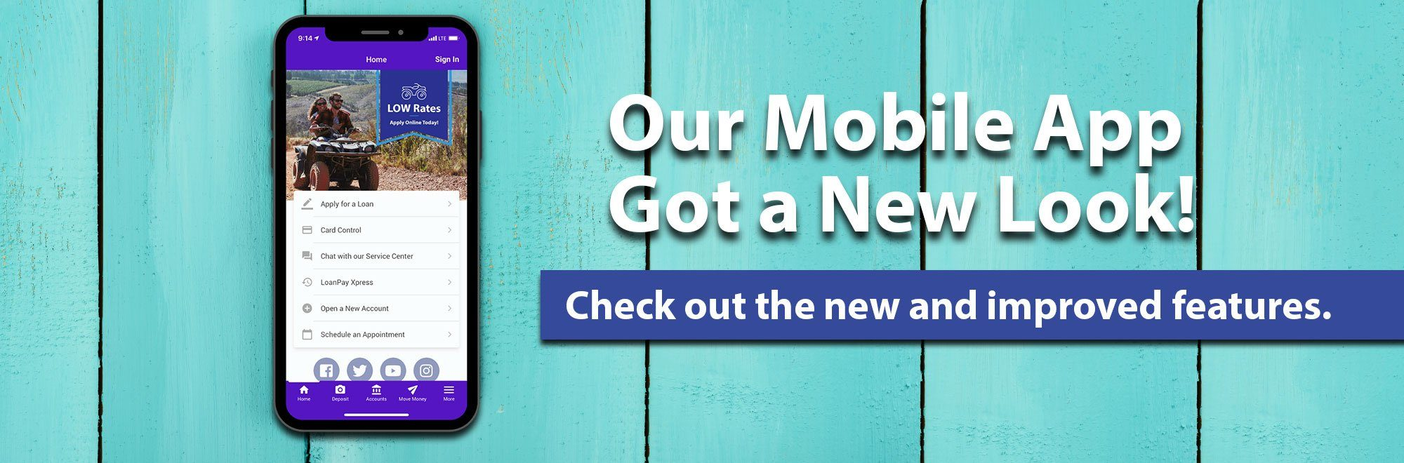 Our mobile app got a new look. Check out the new and improved features.
