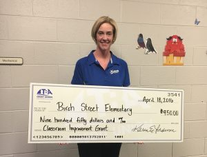 Birch Street Elementary Classroom Grant Winner April 2016