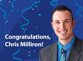 Congrats Chris Milliron