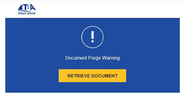 DocuSign Purge Message