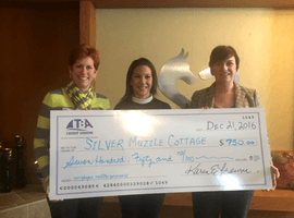 TBA Credit Union Donation to Silver Muzzle Cottage
