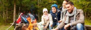 Family enjoying outdoors